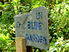 TK-236_01 Blue Garden sign, by Ted Kurkowski