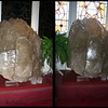 Crystals at Kunzang Palyul Chöling - Harmony crystal, by day and night