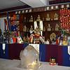 Crystals at Kunzang Palyul Chöling, crystals adorning the Lineage altar.