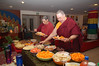 A Tsog (food offering ceremony) is performed regularly to increase merit for all beings.
