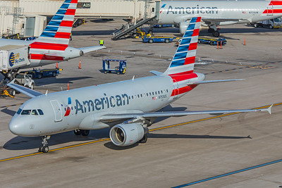 American Airlines Airbus A319-112 N753US 2-2-18 3