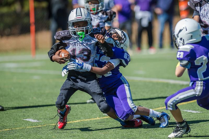 KRCS 3rd/4th grade football final game versus  Raiders held at North Park on October 22, 2016.