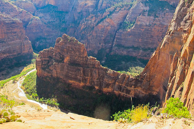 Hiking Angels Landing in Zion National Park.