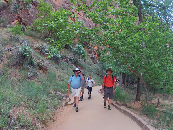 Glenn Gregory and Tony Sarzotti, hiking the Narrows.