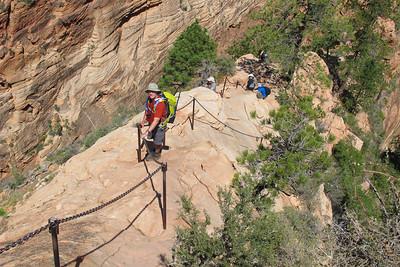 Kent Varvel, Hiking Angels Landing in Zion National Park.