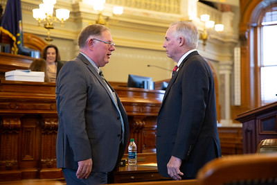 Rep. Dan Hawkins (left) and Rep. Don Hineman (right)