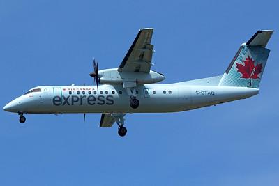 Air Canada Jazz Bombardier DHC-8-301 C-GTAQ 6-22-15
