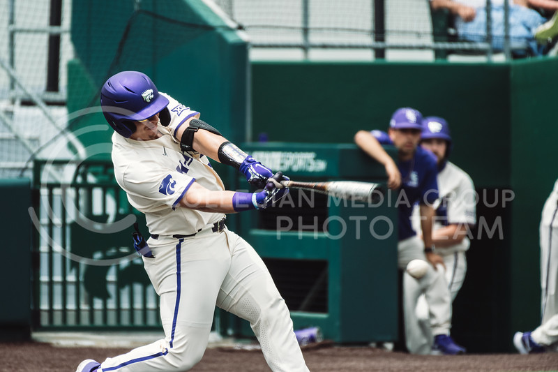 K-State men's baseball team completes a three game sweep against Texas Southern. The Wildcats pulled a 16-1 win over the Tigers at Tointon Family Stadium, Manhattan KS. 5/2/21. (Dylan Connell | Collegian Media Group)