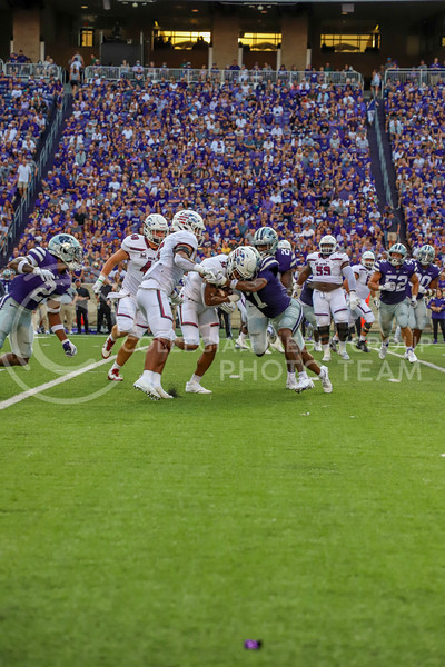 Freshman defensive back TJ Smith goes for the tackle during the September 11, 2021 game against Southern Illinois.