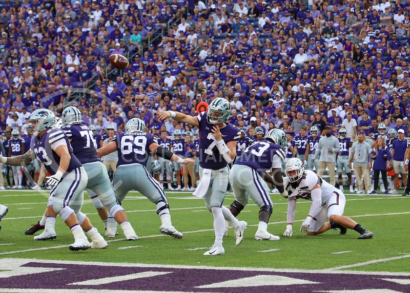 Senior quarterback Skylar Thompson passes the ball during the September 11, 2021 game against Southern Illinois.