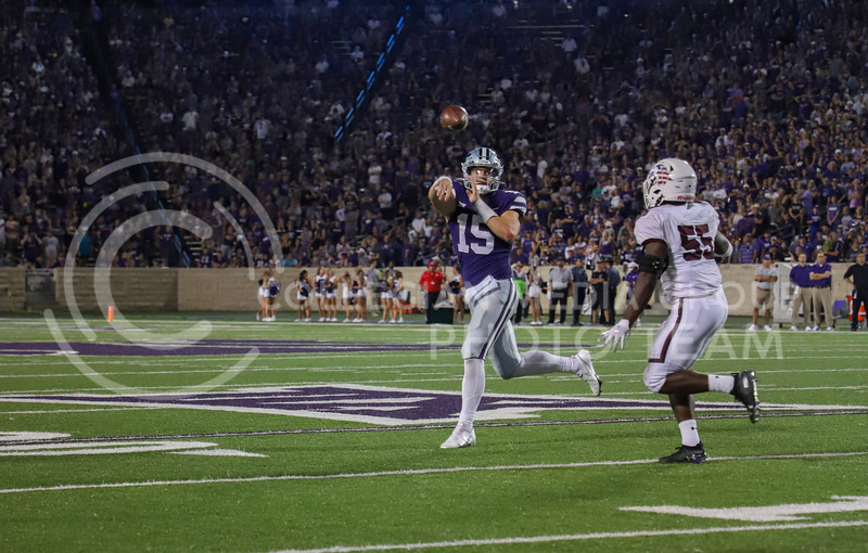 Sophomore quarterback Will Howard passes the ball down the field during the game on Septmeber 11, 2021 againt Southern Illinois.