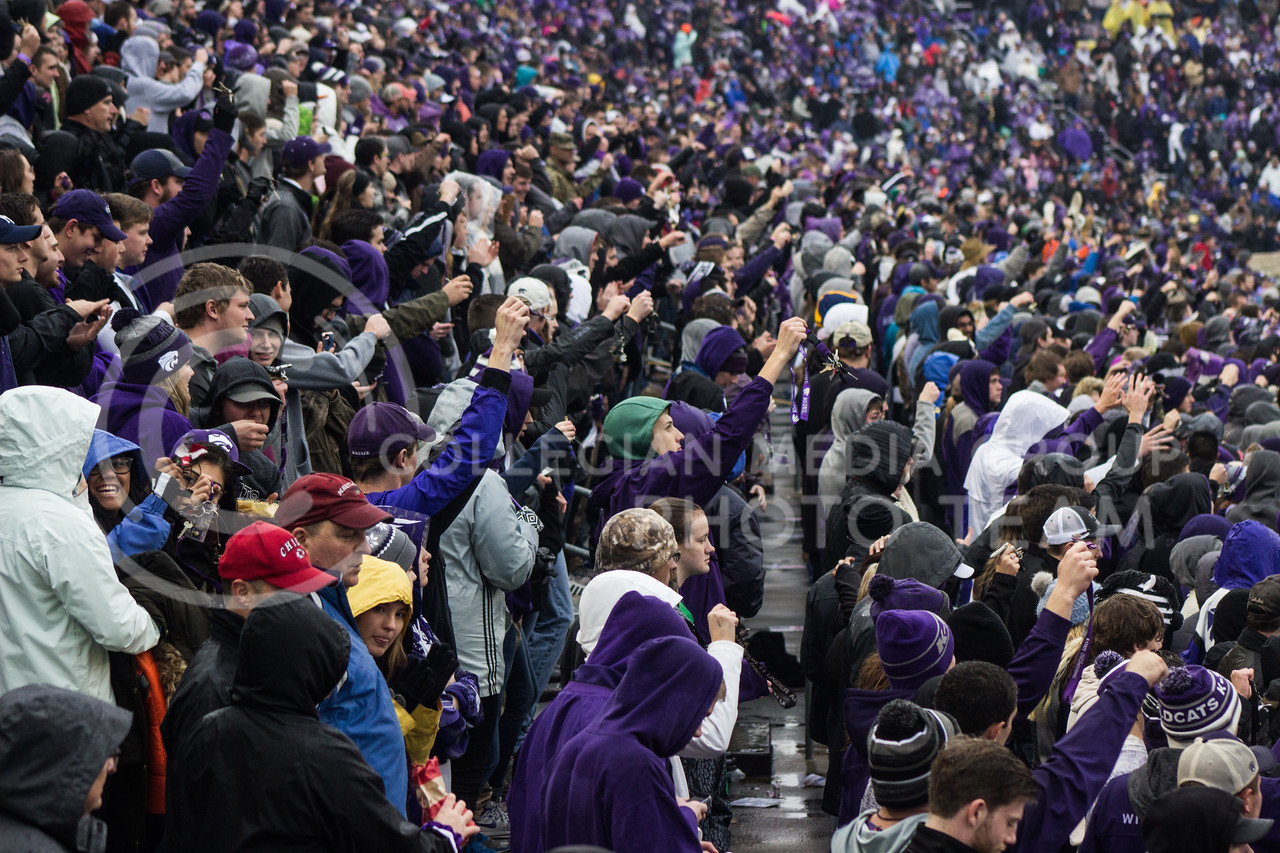 Kansas State Wildcat fans at the game against the West Virginia Mountaineers at Bill Snyder Family Stadium, in Manhattan, KS, on Nov. 11, 2017. (Regan Tokos| Collegian Media Group)