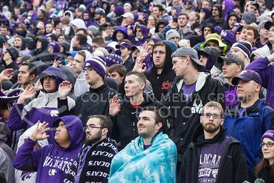 Kansas State Wildcat fans at the game against the West Virginia Mountaineers at Bill Snyder Family Stadium, in Manhattan, KS, on Nov. 11, 2017. (Regan Tokos| Collegian Media Group)