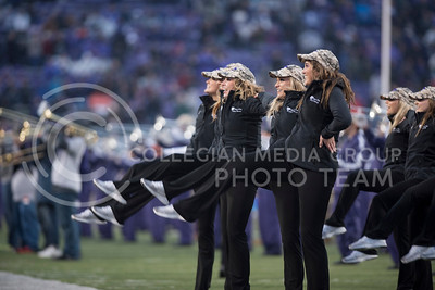 The Kansas State Classy Cats perform with the Kansas State Wildcat Pride Marching Band for the homegame against the West Virginia Mountaineers at Bill Snyder Family Stadium, in Manhattan, KS, on Nov. 11, 2017. (Olivia Bergmeier | Collegian Media Group)