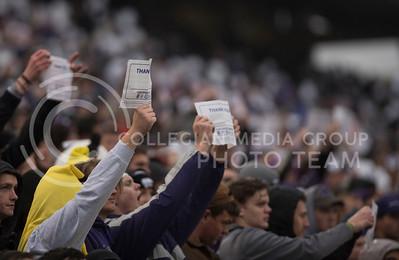 Kansas State University fans Celebrate our Nation's Veterans during the KSU vs WVU Football Game in Bill Snyder Family Stadium, in Manhattan, KS, on Nov. 11, 2017. (Olivia Bergmeier | Collegian Media Group)