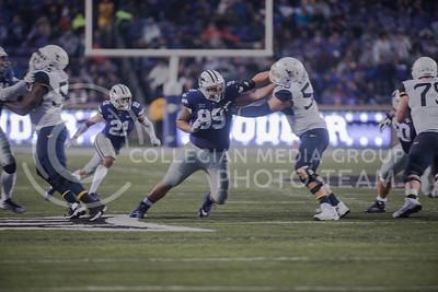 The Kansas State Wildcats play against the West Virginia Mountaineers, at Bill Snyder Family Stadium, in Manhattan, KS, on Nov. 11, 2017. (Olivia Bergmeier | Collegian Media Group)
