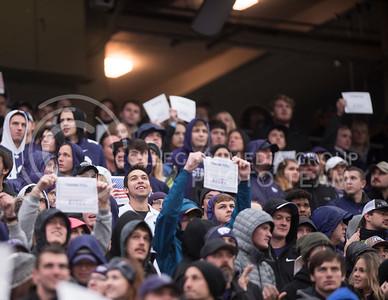 Kansas State Wildcat Fans celebrate the Nation's Veterans at the homegame against the West Virginia Mountaineers at Bill Snyder Family Stadium, in Manhattan, KS, on Nov. 11, 2017. (Olivia Bergmeier | Collegian Media Group)