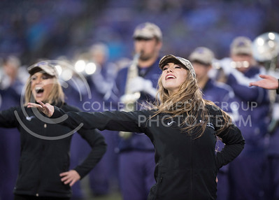 The Kansas State Classy Cats perform with the Kansas State Wildcat Pride Marching Band for the homegame against the West Virginia Mountaineers at Bill Snyder Family Stadium in Manhattan, KS, on Nov. 11, 2017. (Olivia Bergmeier | Collegian Media Group)