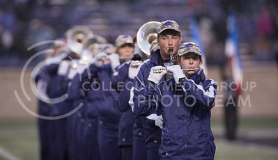 The Kansas State Wildcat Pride Marching Band performs for the homegame against the West Virginia Mountaineers at Bill Snyder Family Stadium, in Manhattan, KS, on Nov. 11, 2017. (Olivia Bergmeier | Collegian Media Group)