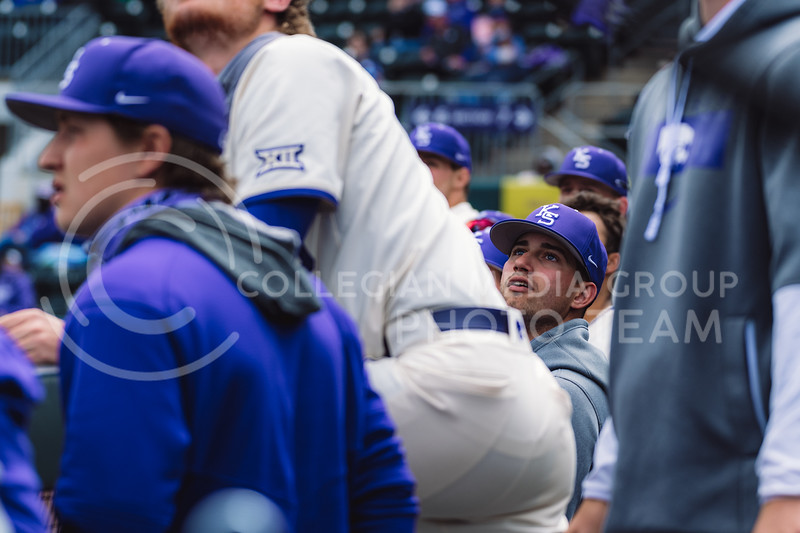 Kansas State University baseball capped off the weekend by defeating Oklahoma 8-3 at Tointon Family Stadium, Manhattan KS. 4/18/21. (Dylan Connell | Collegian Media Group)