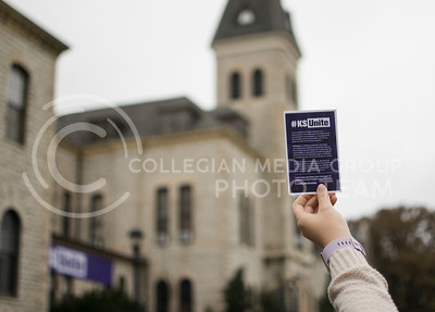The KSUnite Rally was held on Anderson lawn at Kansas State University, in Manhattan, KS, on Nov. 14, 2017. (Meg Shearer | Collegian Media Group)