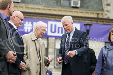 Bill Snyder attended the KSUnite Rally on Anderson lawn at Kansas State University, in Manhattan, KS, on Nov. 14, 2017. (Meg Shearer | Collegian Media Group)