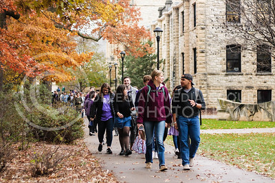 Kansas State faculty and students participate in the KSUnite Rally at Anderson Lawn at Kansas State University in Manhattan, KS, on Nov. 14, 2017. (Emily Lenk | Collegian Media Group)