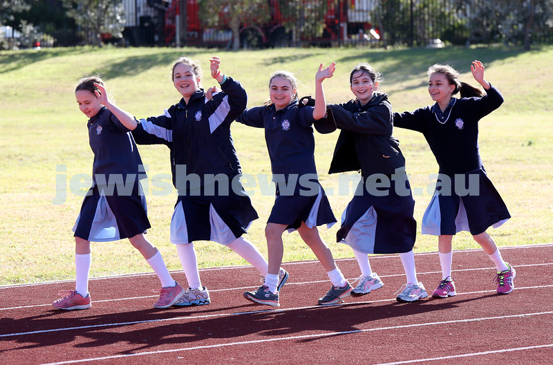 KTC Girls Sports Carnival. Liat Friedgut, Rochel Glogauer, Adiella Lobel, Talia Meyer, Rivkah Niasoff (all from Year 6)
