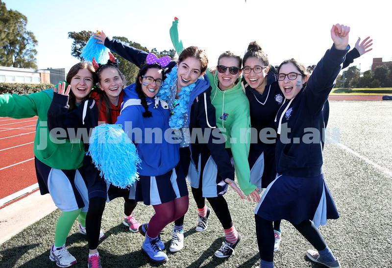 KTC Girls Sports Carnival. Shaina Aharon, Ayelet Rev, Shani Bouskila, Rochy Amzalak, Chana Zinn, Faigy Niasoff, Chaya Gutnick.