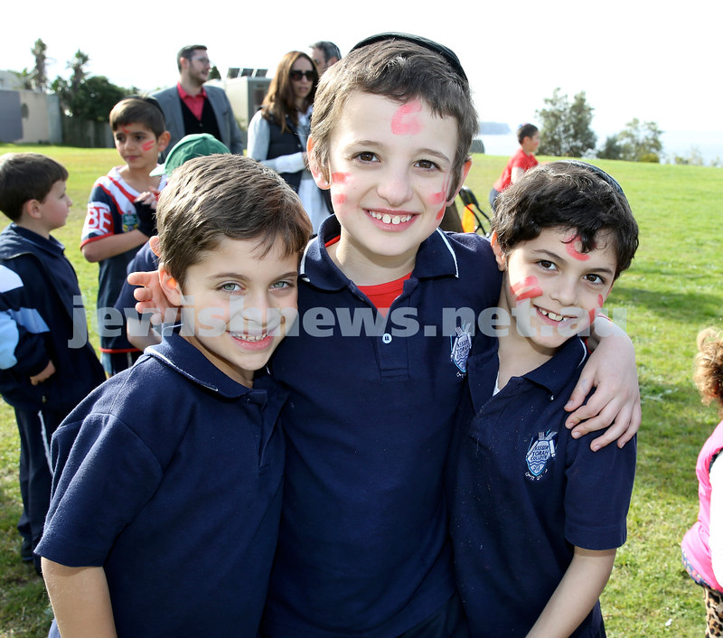 KTC infants sports carnival. Yonatan Sueke, Levi Gescheit, Kovi Kluwgant
