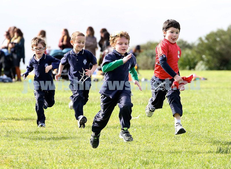KTC infants sports carnival. Year K boys 400m race. Shlomo Levitan, Jon Jon Suntup, Avishai Kessel, Toby Vogel