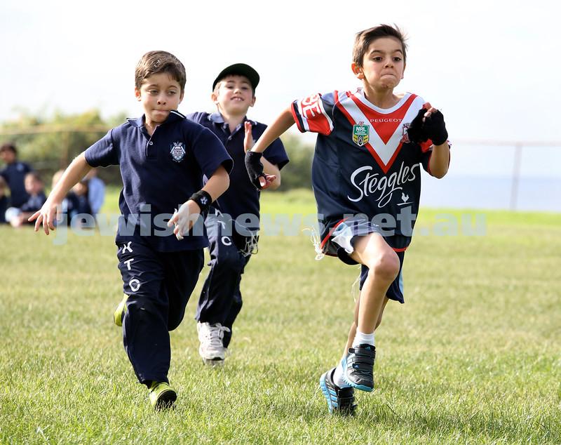 KTC infants sports carnival. Yonatan Sueke, Zev Sacks, Nehorai Malka