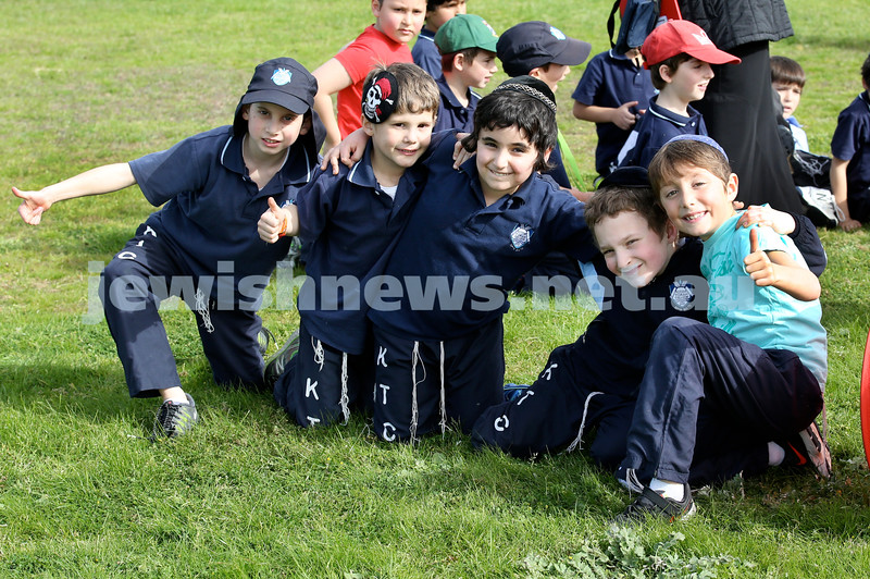 KTC infants sports carnival. Moshe Wolff, Dov Nagel, Shemaya Ezekiel, Benjy Schwartz, JJ Raskin