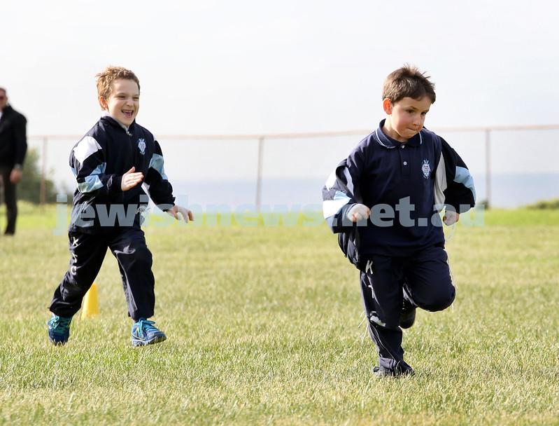 KTC infants sports carnival. Benjy Schwartz and Aviel Lobel
