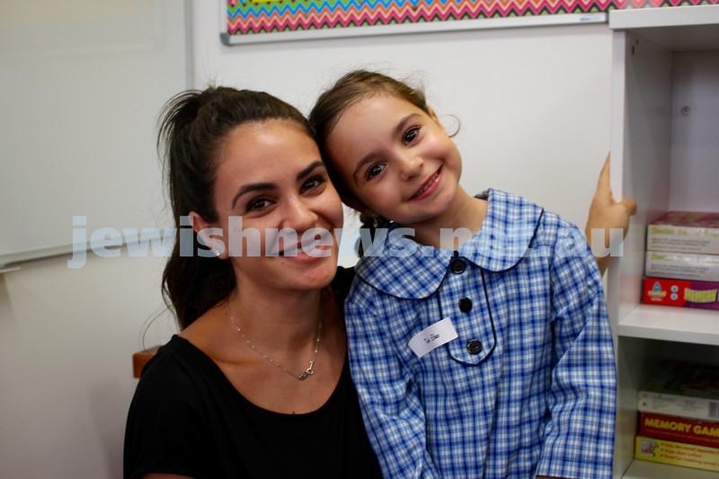 Kesser Torah College first day of kindergarten 2016. Rebecca and Talia Elias.