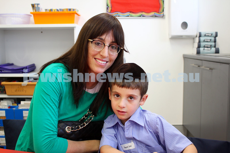 Kesser Torah College first day of kindergarten 2016. Adina and Binyamin Gold.