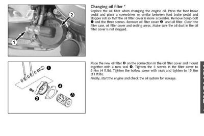 LC4 SXC oil change
