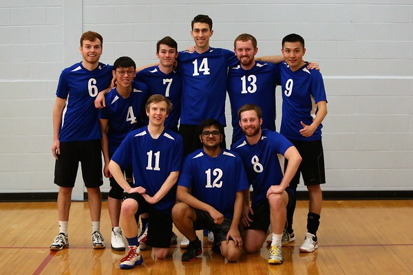 KU mens volleyball A and B teams KU tournament