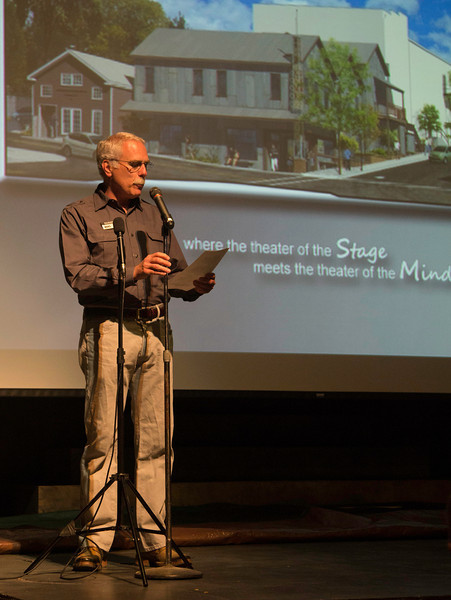 Rick Sharkey, Development Director, KVMR Community Radio and MC of the event