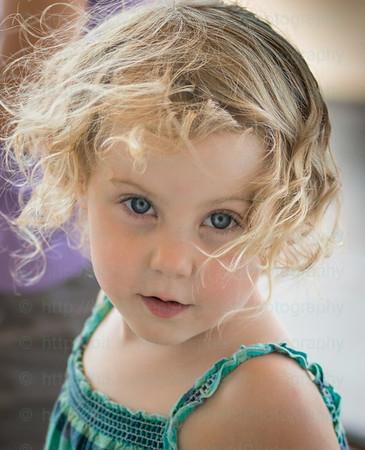 Child at play candid headshot