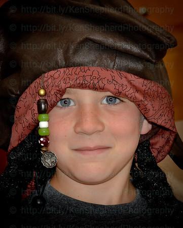 Captain Jack costume headshot