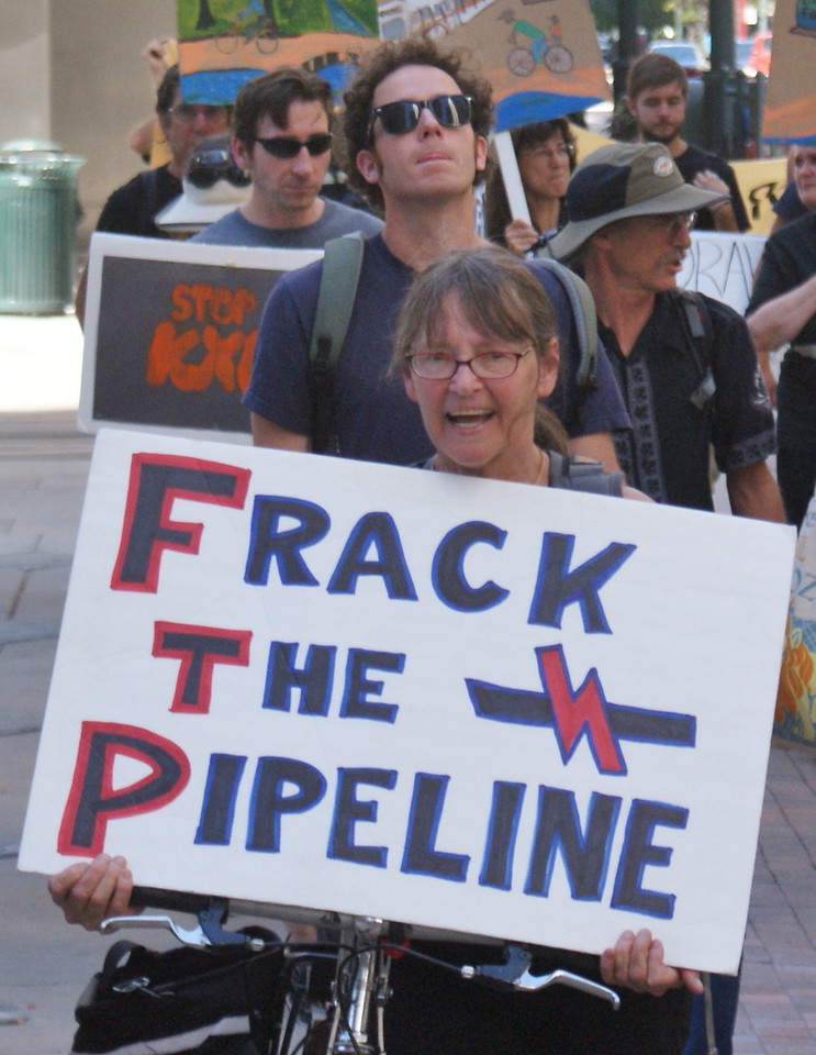 """Draw the Line Against Keystone XL Pipeline"" march in Denver, Colorado. (9/21/13)"