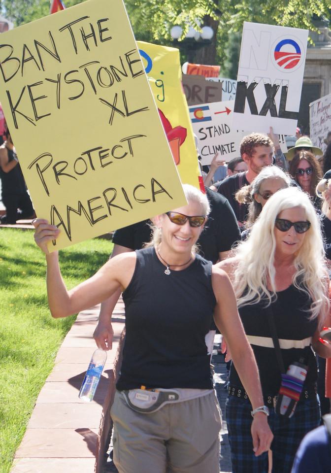 """Draw the Line Against Keystone XL Pipeline"" march in Denver, Colorado. (9/21/13)"