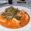 Shrimp & grits with greens - few do it better