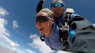 Kylie  Johnson - Tandem Skydive at Skydive Fyrosity Las Vegas