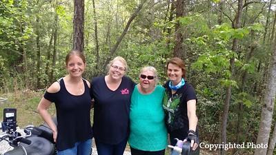 (left to right) Julia Cowan-King, Anmarie Kappler- Sharp, Glenda Moreland-Harmon and Tina Bonk