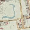 F3892<br /> Een deeltekening van het centrum van Sassenheim met het park Rusthoff als middelpunt. Kaart: ca 1945
