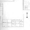 F2815<br /> Situatieschets van 'De Kazerne' aan de Hoofdstraat naast het gebouw 'Concordia' tegenover de Burchtstraat.<br /> Duidelijk is te zien dat 'De Kazerne' pal naast 'Concordia' stond. Tussen 'De Kazerne' en het huis waar C. Rhijnsburger woonde, zien we de toegang naar de 'Nieuwe Haven' ingetekend (midden rechtsboven), zie pijl. Linksboven de huisjes van het buurtje dat Amerika werd genoemd.