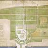 F3281<br /> Bovenaan deze kaart staat: 'Kaarte van het jachthuijs Teijlingen, gelegen onder Voorhout met deszelfe gebouwen en tuijnen, boomgaerd, plantagien, bosschen met laanen, paden vijvers ….. , opgenomen en gemeeten in den … augustus 1801.'