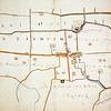 F1405 <br /> Een caerte (kaart) van tienden in Voorhout, Sassenheim en Lisse, toebehorend aan de Universiteijt der Stadt Leiden. Ms 1700. Collectie Bodel Nijenhuis, atlas 430, fo.12vo en 1320.